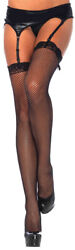 FISHNET STOCKING WITH LACE TOP THIGH HIGH PLUS SIZE $9.99