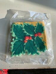 Vintage Hallmark Party Express Holly Napkins $8.95