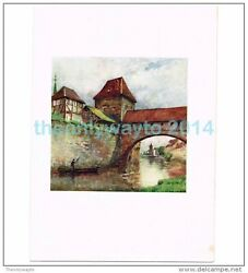 OUTER WALL ABOVE THE PEGNITZ BOOK ILLUSTRATION PRINT NUREMBERG 1905 GBP 9.97