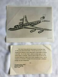 Vintage Pan Am 8 Glossy Black and White Laminated Sketches Advertisements Rare