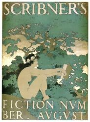contemporary wall decor Scribner#x27;s Fiction Number 1897 art poster $13.96