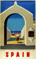 wall designs for living room 1948c Spain travel poster $15.93