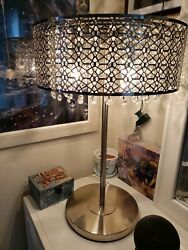 Vintage crystal lamps a set of 2 $140.00