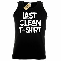 Mens Last Clean Party College Tank Top Vest novelty joke