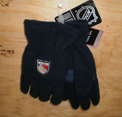 Brand New Men#x27;s NHL New York Rangers Embroidered Fleece Gloves Reebok S M $8.50