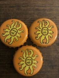 Set Of 3 Bell's Beer Brewery Bottle Caps Tops Oberon Sun Orange Michigan Crown $5.00