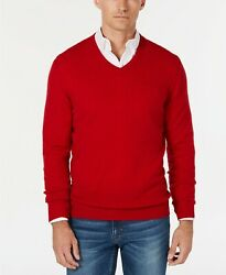 Club Room New Men's 100% Cashmere Solid Long Sleeve Pullover Sweater