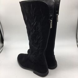 kenneth cole reaction womens boots Black SuedeZip Up Back Size 3.5 $22.00