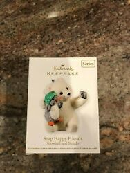 2011 HALLMARK SNAP HAPPY FRIENDS SNOWBALL AND TUXEDO CHRISTMAS ORNAMENT