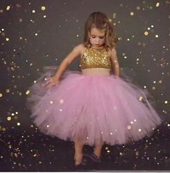 Pink Flower Girls Dresses For 2019 Beach Wedding Party Evening Prom Dress Gowns