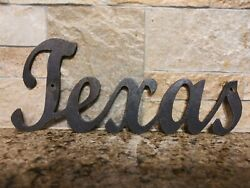 Texas Metal Wall Art Word Quote Metal Sign Decor Steel rustic home decor TX $12.95
