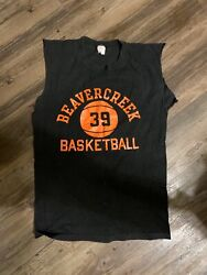 Vntg Champion Sportswear Cut Sleeve T shirt Beavercreek OH Basketball Highschool $30.00