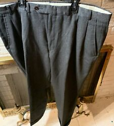 Nautica Men's Charcoal Gray 100% Wool 38 x 30 Slacks  Dress Pants EUC