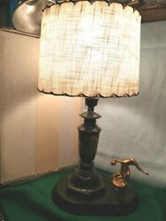 Vintage Bowling Trophy Lamp from 60#x27;s Mid Century Modern Shade 17quot; Tall $24.99