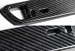 1 x JDM Carbon Fiber Look Bumper Front License Plate Holder Relocate Bracket