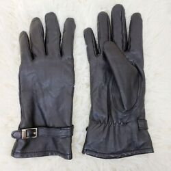 Adrienne Vittadini Small Petite Black Leather Driving Gloves $25.00