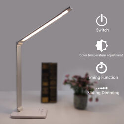 Smart LED Desk Lamp 5 Color Modes Touch USB Chargeable Reading Eye-protect Table