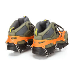 Non slip Snow Cleats Shoes Boots Cover Step Ice Spikes Grips Crampons For Hiking $14.65