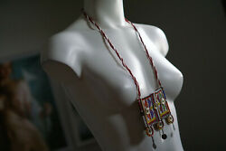 Womens Southwestern Necklace Statement Big Novelty Pendant Pow Wow Seed Bead $13.93