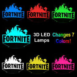 3D LED Fort Game Lamp Touch 7 Color Change Desk Night Light USB w FREE GIFT $19.99