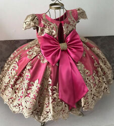 Flower Lace Wedding Birthday Party Formal Prom Tutu Gown Girls Dress Size 4 10 $16.98