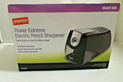STAPLES POWER EXTREME ELECTRIC PENCIL SHARPENER HEAVY USE NEW IN BOX $49.99