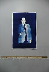 Target Practice Cyanotype Mid Modern Meditative Art Secret Service $265.00