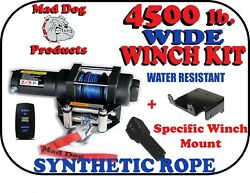 4500 Mad Dog WIDE Synthetic Winch Mount Kit 2017 2022 Can Am Defender HD5 500 $434.95
