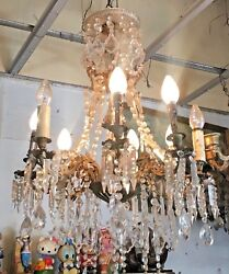 Antique vintage Crystal Candles Chandelier Ceiling Lights Imperial Chandeliers