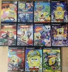 Nickelodeon Spongebob Squarepants Games Playstation 2 PS2 TESTED $9.97