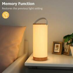 TaoTronics Rechargeable Touch Sensor Bedside Lamp LED Table Lamps for Bedroom $69.99