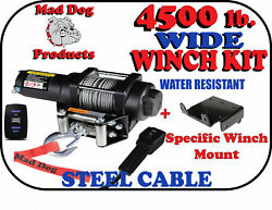4500 Mad Dog WIDE Steel Winch Mount Kit for 2018 2022 Polaris Ranger 1000 XP $404.95