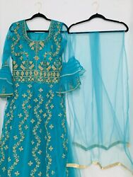 Indian Pakistani Women Party Wear Long Dress. $75.00
