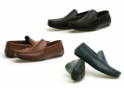 Men#x27;s Vegan Casual Lightweight Slip On Loafers Moccasins Driving Shoes $22.49