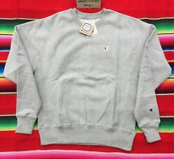 NEW Champion Sportswear heather gray reverse weave crewneck sweatshirt adult M $59.98
