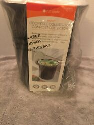 Full Circle Breeze Oder Free Countertop Compost Collector NEW $25.00