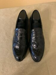 Giorgio's of Palm Beach Men's Shoes Size 9 Carmina Black Leather Authentic
