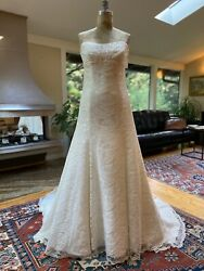 WATTERS WTOO Bridal Strapless Sequin Embroidered Wedding Gown Sample Size 10 $500.00