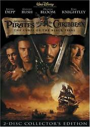 Pirates of the Caribbean: The Curse of the Black Pearl Two Disc Col VERY GOOD $3.89