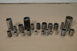 23x Mixed Vintage Socket Lot Snap onCrafsman proto industro thorsten 1 2quot; drive $49.99