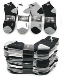 New 3-12 Pairs Mens Ankle Quarter Crew Sports Socks Low Cut Cotton Size 9 -13 $6.89