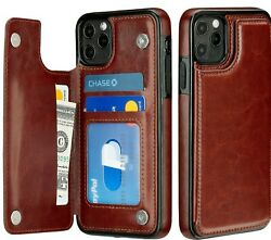 New iPhone 11  Pro  Max Case Cover Leather Magnetic Wallet Kickstand for Apple $10.42