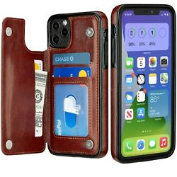 New iPhone 11  Pro  Max Case Cover Leather Magnetic Wallet Kickstand for Apple $10.97