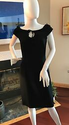 Moschino Cheap amp; Chic Black Little Dress With Embelishments Around Neck 8 $30.00
