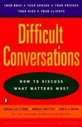 Difficult Conversations: How to Discuss What Matters Most Paperback GOOD $3.78