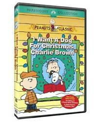 I Want a Dog for Christmas Charlie Brown DVD VERY GOOD $22.26