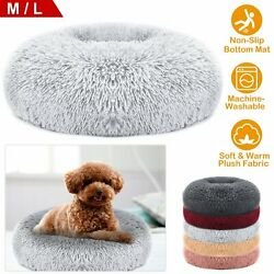 US Donut Cuddler Pet Calming Bed Dog Beds Soft Warmer For Medium Small Dogs Cats $18.71