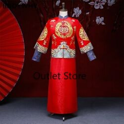 Vintage Cheongsam Traditional Chinese Wedding Gown Qipao Embroidery Dragon GBP 91.77