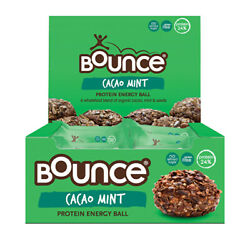 Bounce Energy Balls Cacao Mint 42g x 12 Display Protein amp; Health Bars AU $41.56