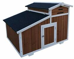 Magbean Solid Wood Chicken Coop Hen House 2 4 Chickens with Nesting Box $209.95